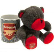 Arsenal kerámia bögre plüss mackóval