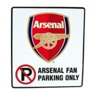 Arsenal parkoló tábla