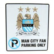 Manchester City parkoló tábla