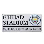 Manchester City utcatábla ETIHAD