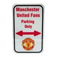 Manchester United parkoló tábla