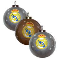 Real Madrid színes karácsonyfadísz készlet