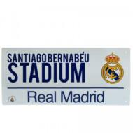 Real Madrid utcatábla fehér