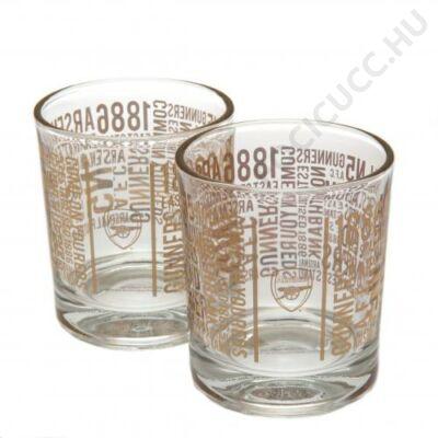 Arsenal üvegpohár szett - 2db