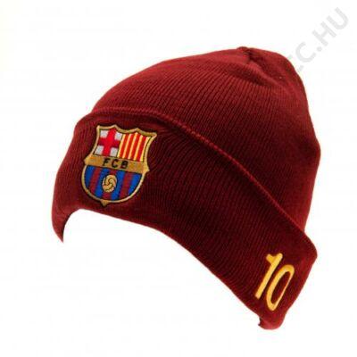 FC Barcelona kötött bordó sapka MESSI