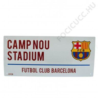 FC Barcelona Camp Nou utcatábla