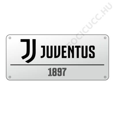 Juventus fehér utcatábla