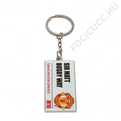 Manchester United kulcstartó utcatábla
