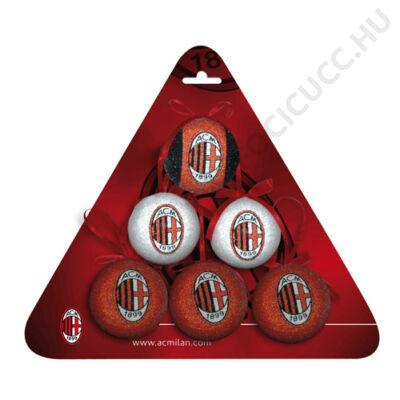 AC Milan karácsonyi dísz  - 6db-os